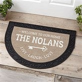 Key To Our Home Personalized Half Round Doormat - 18837