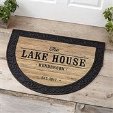 Home Away From Home Personalized Half Round Doormat - 18838
