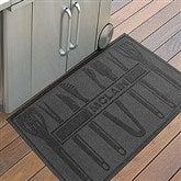 BBQ Tools Personalized AquaShield™ Molded Doormat - 18852D