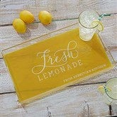 Outdoor Fun Typography Personalized Acrylic Serving Tray - 18854