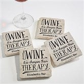 There's Always Time For Wine Tumbled Stone Coaster Set - 18875