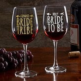 Bride Tribe Personalized 19 1/4oz. Red Wine Glass - 18879-R