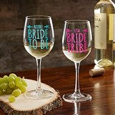 Bride Tribe Personalized 12oz. White Wine Glass - 18879-W