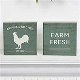 Farmhouse Kitchen Personalized Shelf Blocks- Set of 2 - 18893