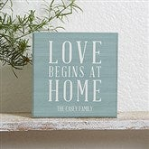 Love Begins At Home Personalized Shelf Block - 18894