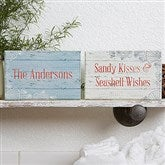 Coastal Home Personalized Rectangle Shelf Blocks- Set of 2 - 18901
