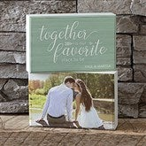 Together... Personalized Photo Shelf Blocks- Set of 2 - 18902