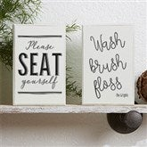 Welcome to the Bathroom Personalized Rectangle Shelf Blocks - 18903