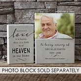 Heaven in Our Home Personalized Rectangle Shelf Blocks- Set of 2 - 18904