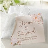 Modern Floral Wedding Personalized Gift Tags - 18915