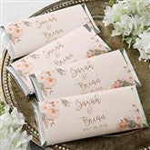 Modern Floral Wedding Personalized Candy Bar Wrappers - 18917