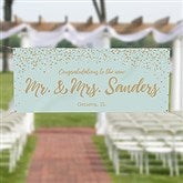 Sparkling Love Personalized Wedding Banner - 18923