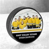 My Team Personalized Official Hockey Puck - 18954