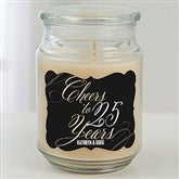 Cheers To... Personalized Scented Glass Candle Jar - 18960