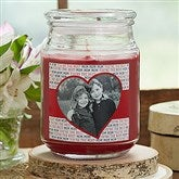Love You This Much!  Personalized Photo Scented Glass Candle - 18961
