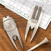 Cutter & Buck® Classic Personalized Divot Tool, Ball Marker & Clip - Monogram - 18974-Monogram