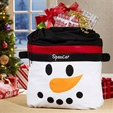 Snowman Face Personalized Toy Bag