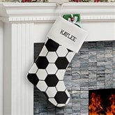 Soccer Ball Personalized Christmas Stocking - 19008