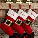 Santa Belt Personalized Christmas Stockings - 19011