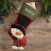 Nostalgic Snowman Personalized Christmas Stocking - 19013-SN