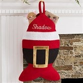 Santa Belt Personalized Cat Christmas Stocking - 19014-C