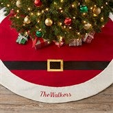 Santa Belt Personalized Christmas Tree Skirt - 19017