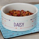 Modern Arrow Personalized Dog Bowl- Large - 19020-L