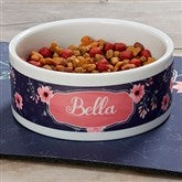 Pet Floral Personalized Dog Bowl - Large - 19021-L