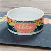 Pet Floral Personalized Dog Bowl - Small - 19021-S
