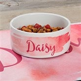 Watercolor Personalized Dog Bowl- Small - 19022-S