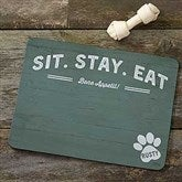 Farmhouse Style Personalized Dog Food Mat - 19034