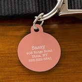 Expressions Personalized Dog ID Tag - Circle - 19035-C