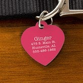 Expressions Personalized Dog ID Tag - Heart - 19035-H