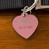 Modern Arrow Personalized Dog ID Tag - Heart - 19036-H