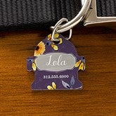 Floral Personalized Dog ID Tag - Fire Hydrant - 19037-F