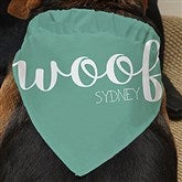 Woof Personalized  Dog Bandana - 19040