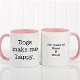 Pet Expressions Personalized Coffee Mug 11 oz.- Pink - 19051-P
