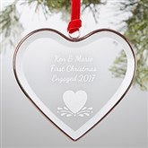Create Your Own Engraved Premium Bronze Heart Ornament - 19055