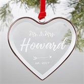 Sparkling Love Personalized Bronze Wedding Ornament - 19057