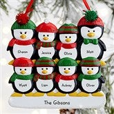 Penguin Family© Personalized Ornament- 8 Name - 19062-8