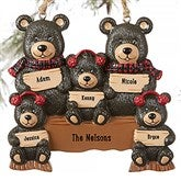 Holiday Bear Family© Personalized Ornament- 5 Names - 19063-5
