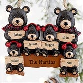 Holiday Bear Family© Personalized Ornament- 6 Names - 19063-6