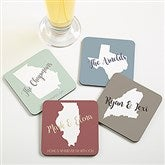 State Pride Personalized Coasters - 19069