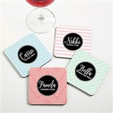 Name Meaning Personalized Geometric Coasters - 19070