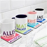 Bold Name Personalized Designated Drink Coasters - 19072