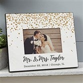 Sparkling Love Personalized Wedding Picture Frame - 19096
