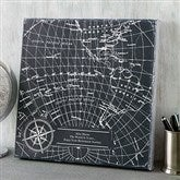 Industrial Map Personalized Canvas Print- 8