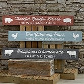 Farmhouse Kitchen Personalized Wooden Sign - 19114