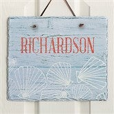 Coastal Home Personalized Slate Plaque - 19116