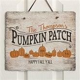Family Pumpkin Patch Personalized Slate Plaque - 19117